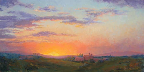 Sunset Over Tuscany Art | B. Oliver, Art
