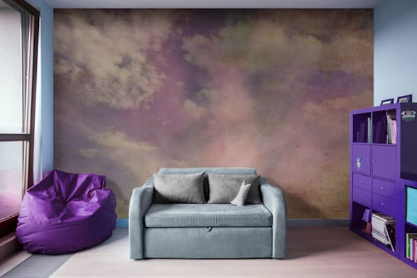 Abstract Clouds Nature Photograph Illustration Abstract Art, Digital Artwork - Decorative Wall Mural