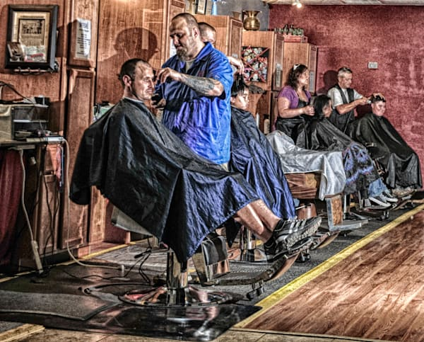 Ye Olde Barber Shoppe Art | Artist David Wilson