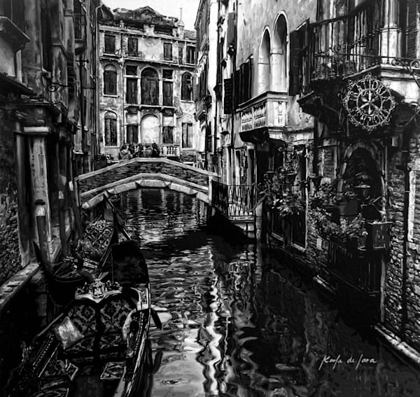 Venice Nostalgia Limited Edition Art for Sale - Artist Karla de Lara - Wet Paint NYC Gallery - Italy Painting