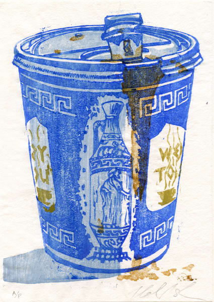 New York Coffee Cup Print