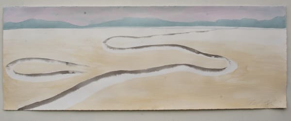 Oxbow Lake Watercolor Painting