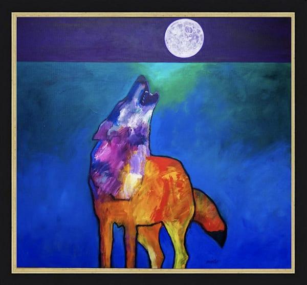 Alpha Male Wolf Solo | John Nieto Original Painting