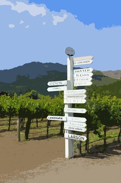 Sonoma Wine Sign
