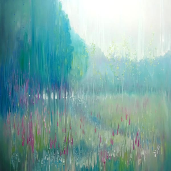 Print Of Ageless Meadow   A Summer Meadow In Sussex Art | Gill Bustamante Artist