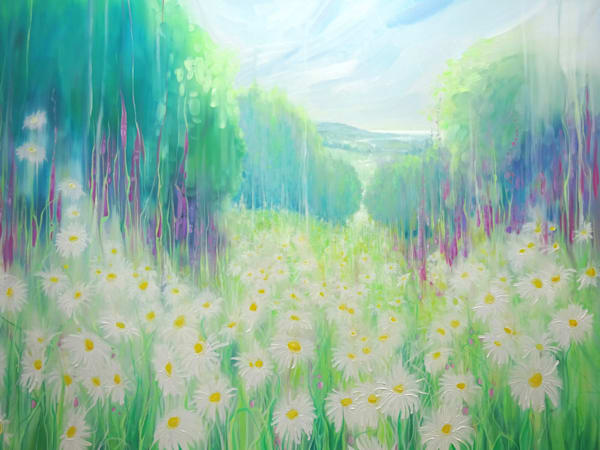 Through the Daisies to the Sea - An English summer landscape