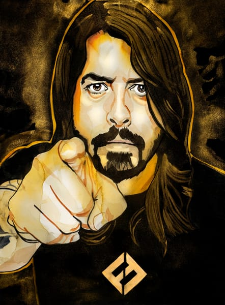 Dave Grohl Ff O Art | William K. Stidham - heART Art