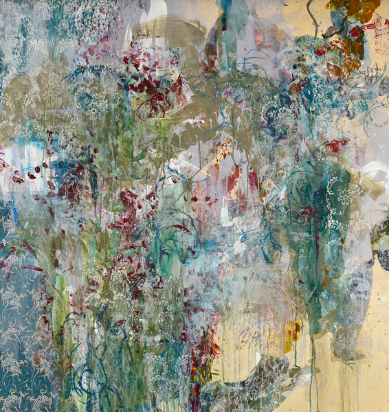 Abstract Art - Foliage Expressionistic Art inspired by William Morris Pattern for Sale
