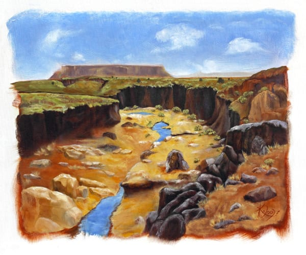Water Sign Arroyo-southwest-painting-print-s