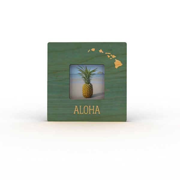 Colorfuse Mini Frames | Teal Aloha Islands