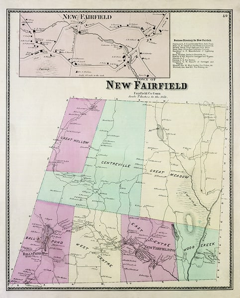 Map of New Fairfield, CT