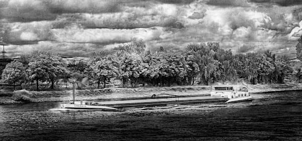 Rhine River Barge  Photography Art | Peter J Schnabel Photography LLC