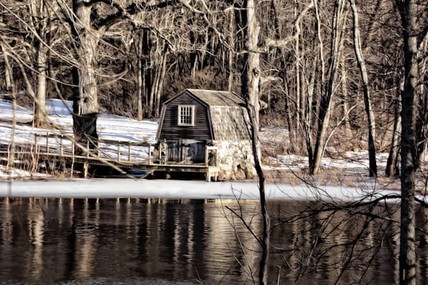 Concord River Boathouse Photography Art | Peter J Schnabel Photography LLC