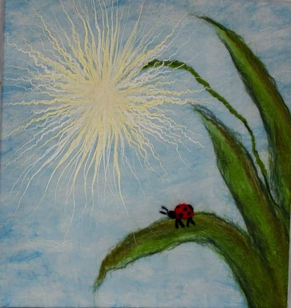 Dandelion Ladybug Art | FeltinArt