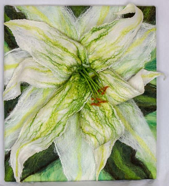 Wild Lily Original Felted Artwork