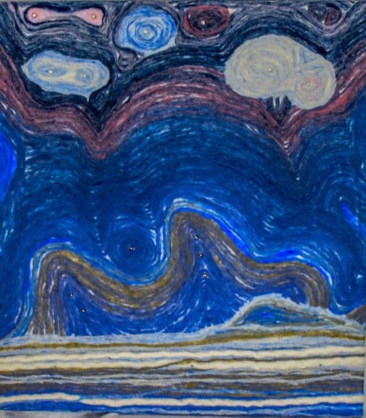 Pearly Night Art | FeltinArt