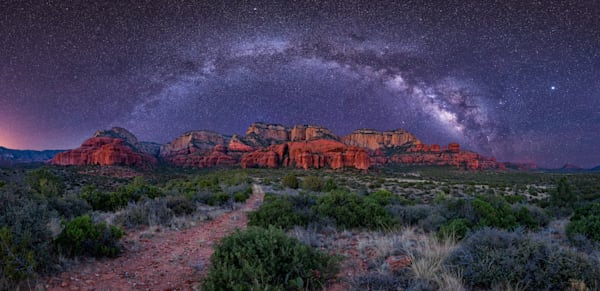Milky Way Over Sedona Photography Art by iainreid.artstorefronts.com