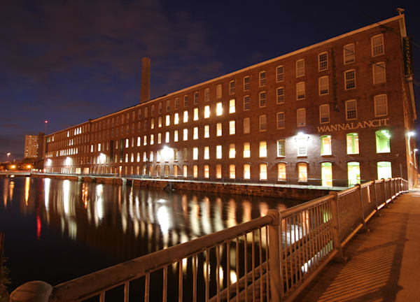 The Lowell Mills at Night