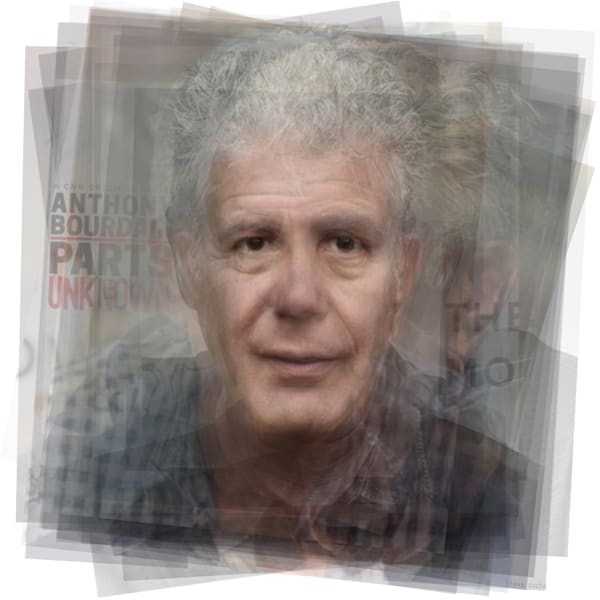 Overlay art – contemporary fine art prints of Anthony Bourdain