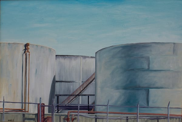 Gas Tanks Oil Painting
