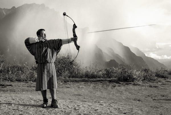 Bhutan B&W Artwork