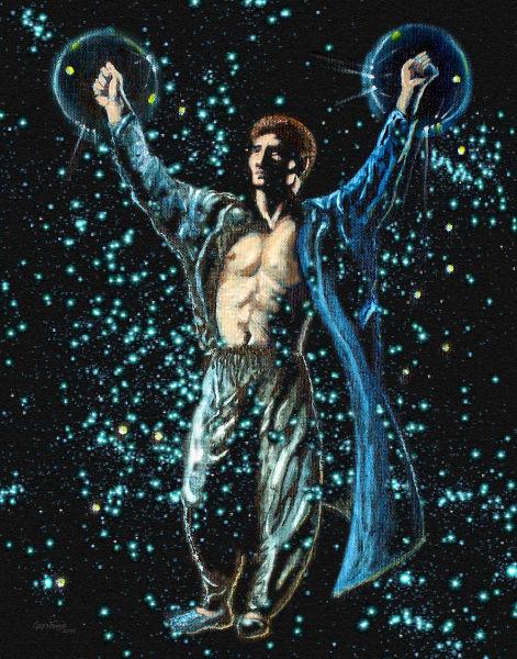 Hero, painting, sorcerer, magician, magic