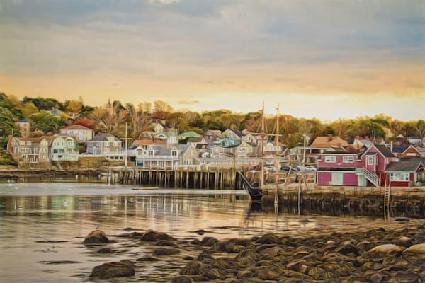 Coastal Harbor town