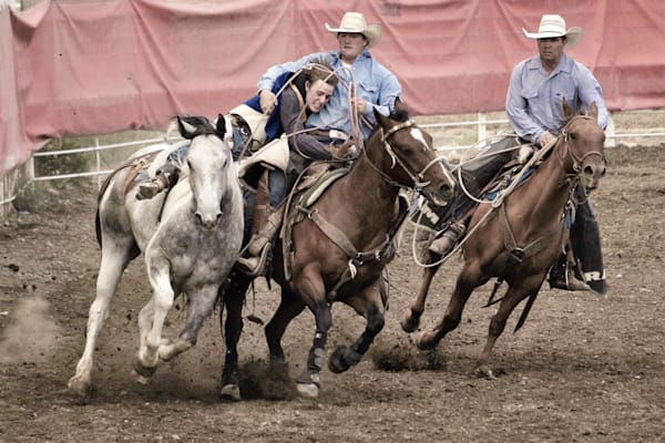 Fine Art Photograph of Rodeo Pickup Men for Sale