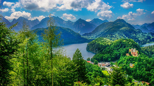 Scenic Vista Of Hohenschwangau Castle Photography Art | Peter J Schnabel Photography LLC