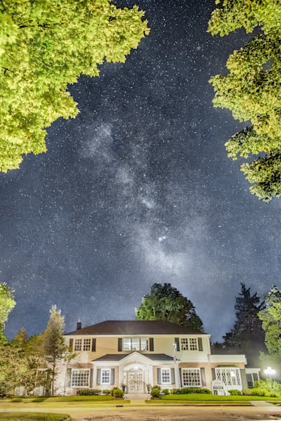 Milky Way Over Pray Funeral Home
