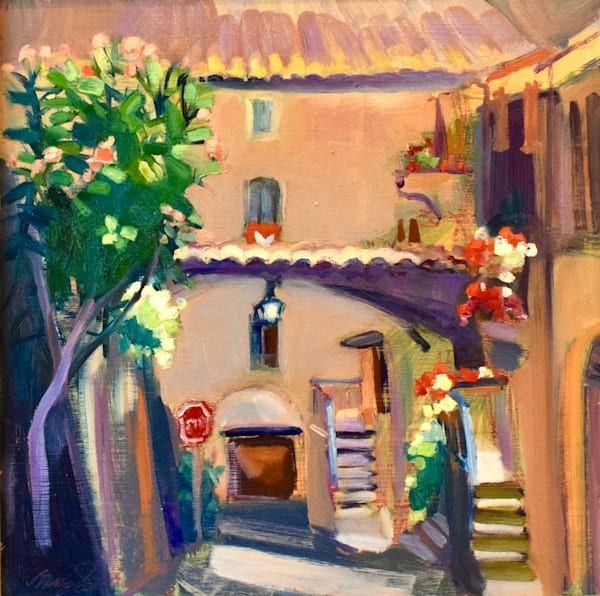 Painted en plein air on location in  Orvieto, Tuscany, Italy. T