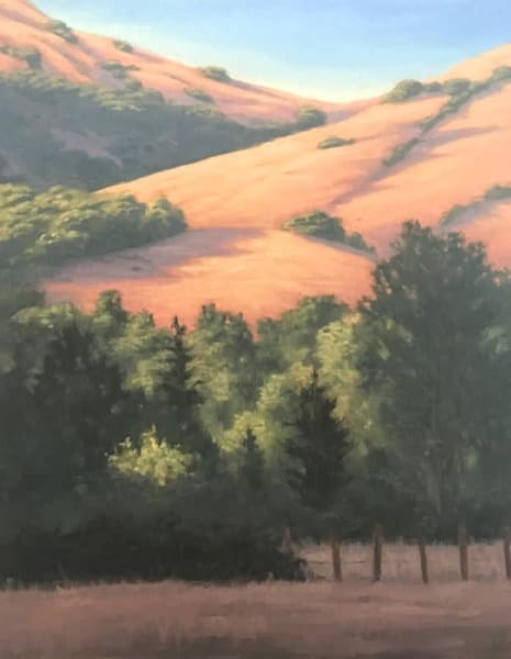 Golden Hills and Trees original oil painting