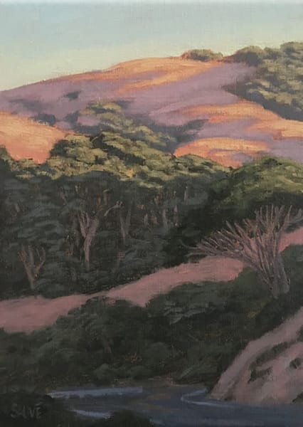 Northern California oil painting