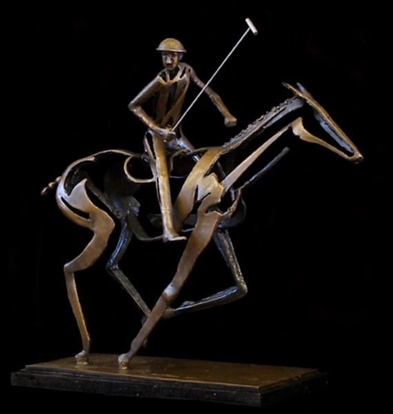 The Polo Player by Al Glann