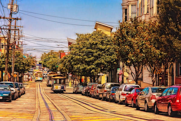 Street Cable Cars Photography Art | Peter J Schnabel Photography LLC
