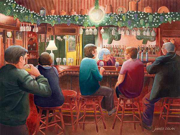 Kathy's Stagedoor Pub fine art print by Jim Dolan.