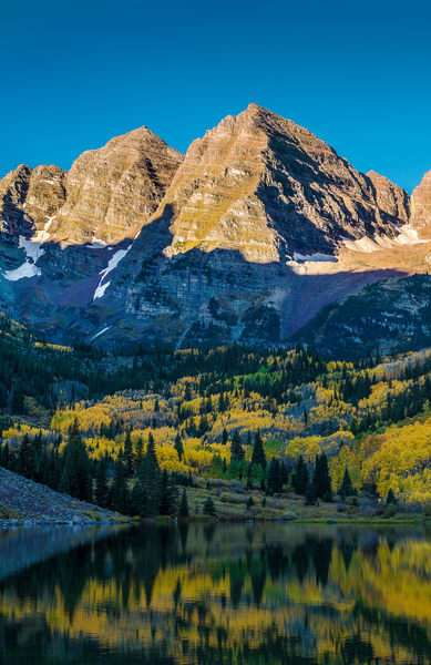 Aspen Colorado Maroon Bells Sunrise Illuminating Majestic Mountain Peaks