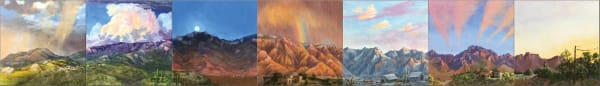 The most Unique painting of the Catalina Mountains you've ever seen.