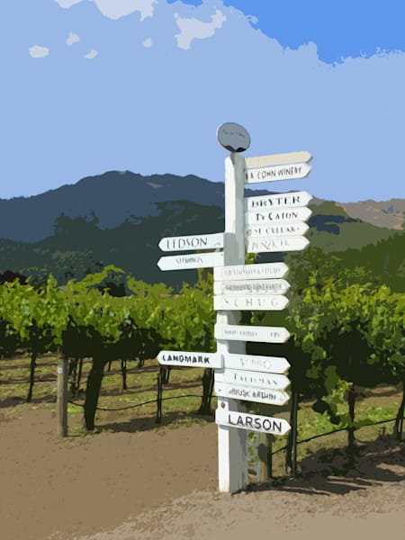Sonoma Winery Sign