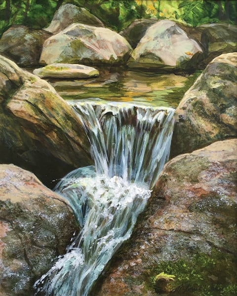 An intimate little Waterfall painting