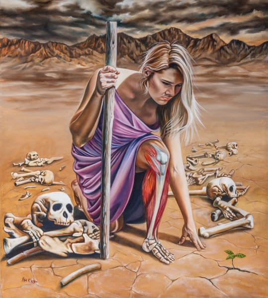 """Dry Bones"" by Ilse Kleyn   Prophetics Gallery"