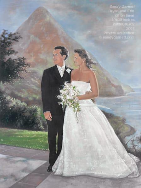 Wedding Portrait of Bryan and Erin