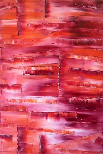 Crimson Cascade Art | PMS Artwork