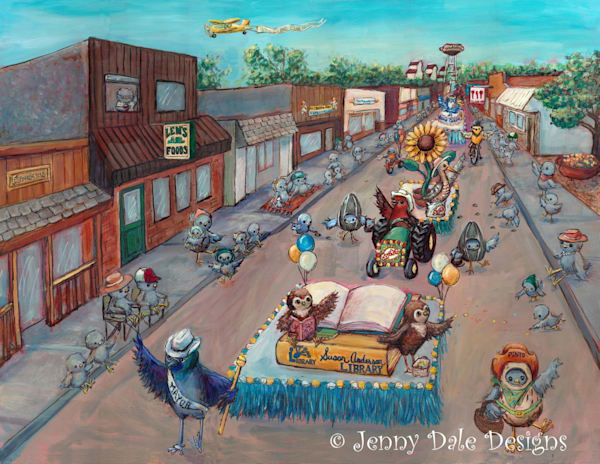 Bow Island Parade | Whimsical Small Town Art