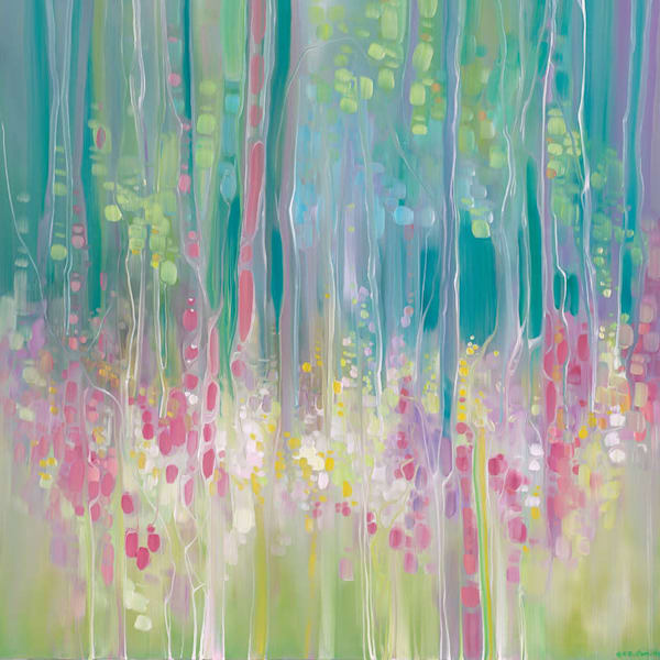 wildflowers abstract painting