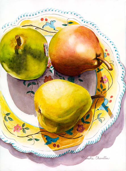 3 Pears And A Plate Art | Digital Arts Studio / Fine Art Marketplace