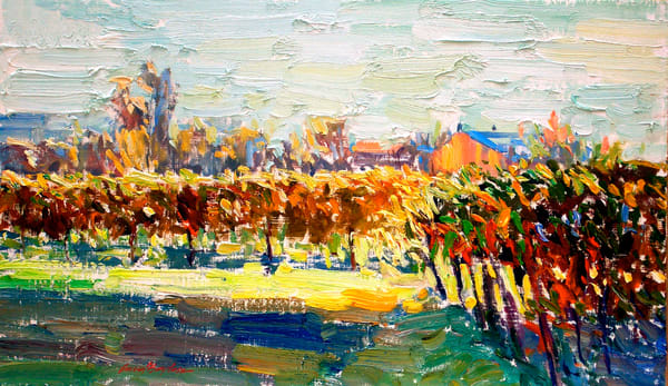 """Napa Evening"", Oil on Canvas, by Daniel Bayless"