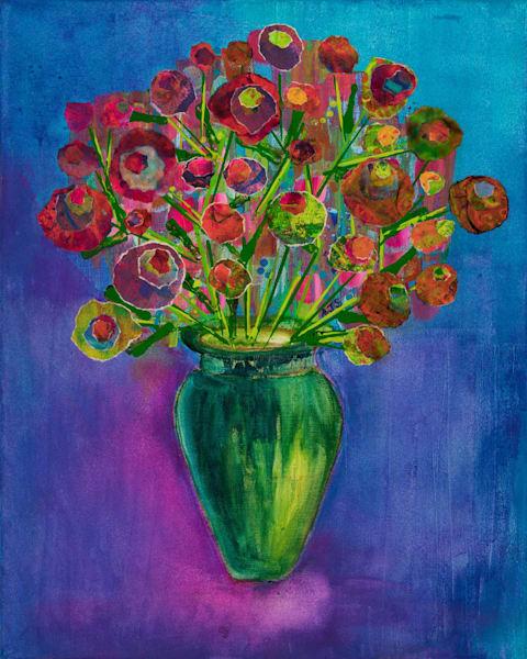 Summer Flowers (December) - Original