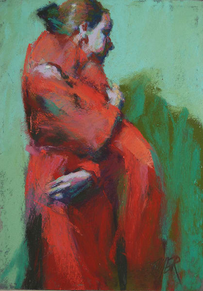 Lisa In Reds And Greens Art | Digital Arts Studio / Fine Art Marketplace