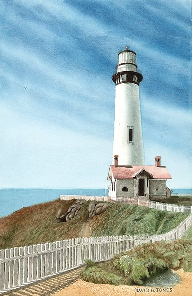 Pigeon Point Lighthouse Ca Art by FAM 2018